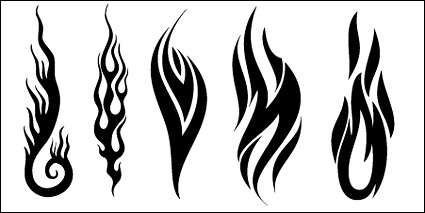 5 Vector Flames Black Images
