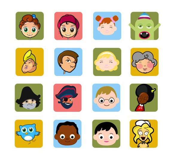 Cartoon Character Faces