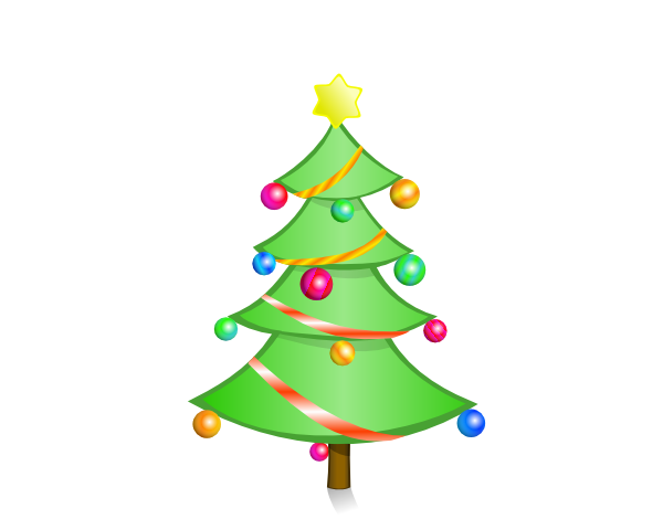 17 Vector Art Cartoon Christmas Tree Images