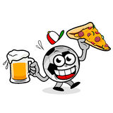 Cartoon Pizza and Beer