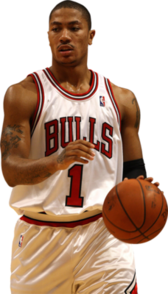 Chicago Bulls Derrick Rose Basketball Player