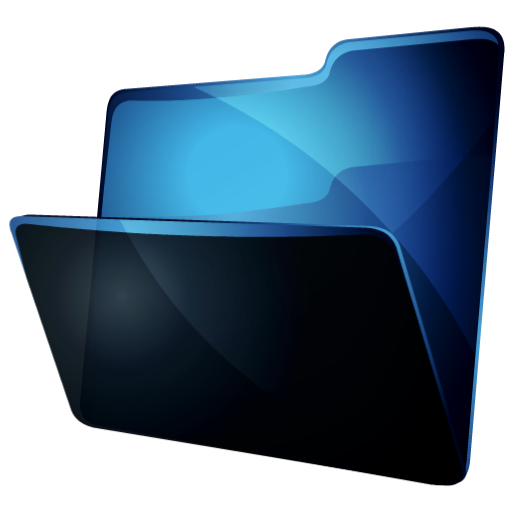 12 Download Blue Folder Icon PNG Images