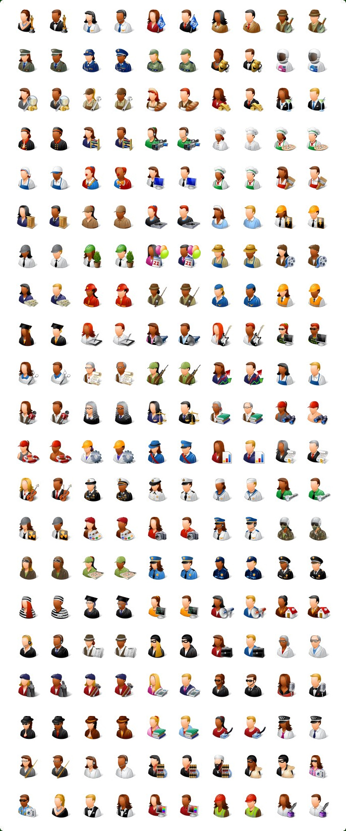 Construction People Icons Free