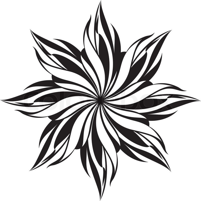 Cool Black and White Flower Designs