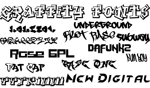 Cool Graffiti Fonts
