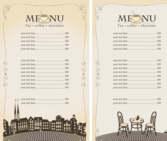 14 Design Your Own Restaurant Menu Images