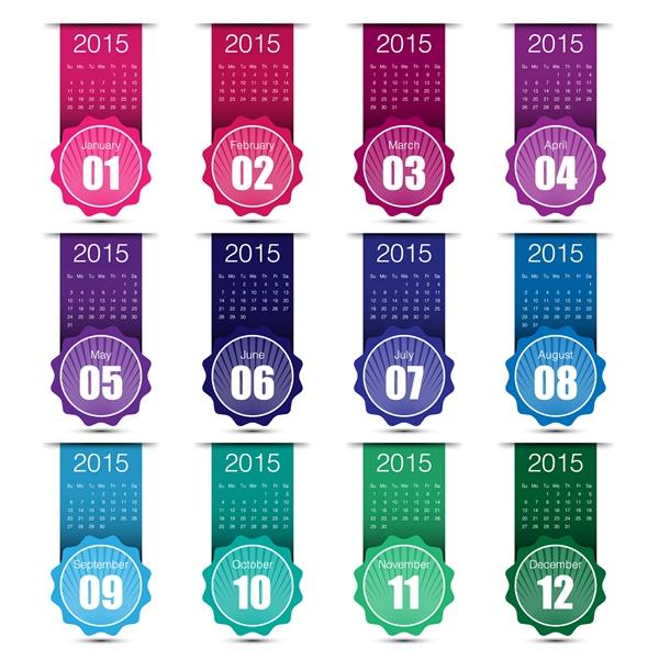 Creative Vector 2015 Calendar