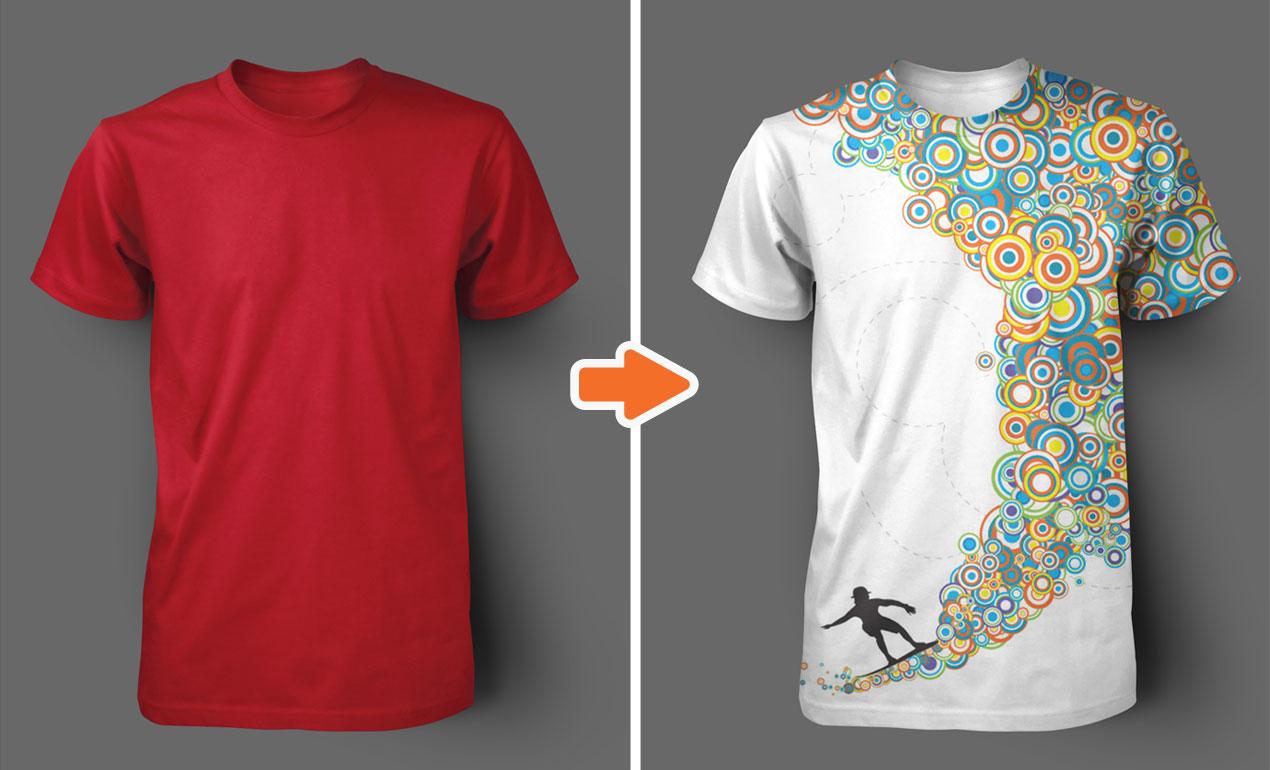 Crew Neck T-Shirt Template