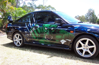 Custom Car Airbrush Graphics