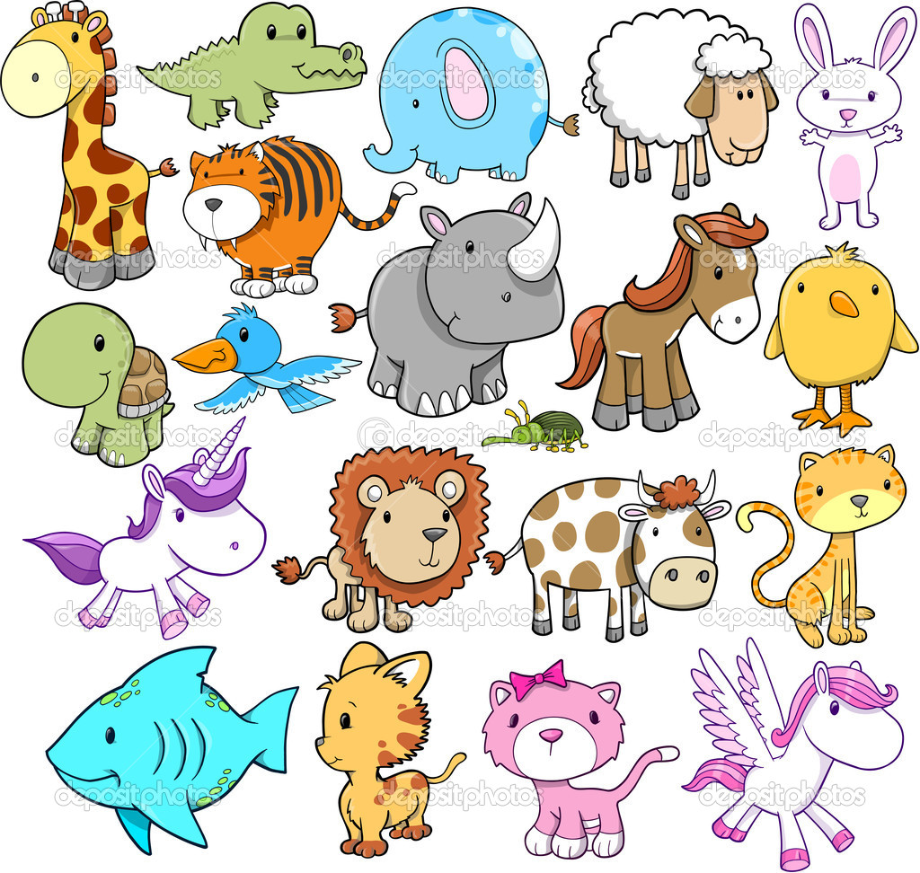 Cute Animal Vector Illustrations