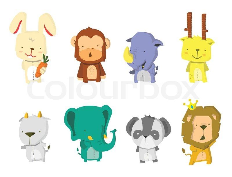 Cute.animals.vector.set