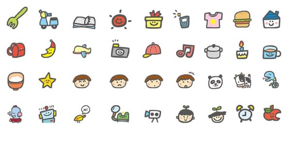 Cute Cartoon Desktop Icons