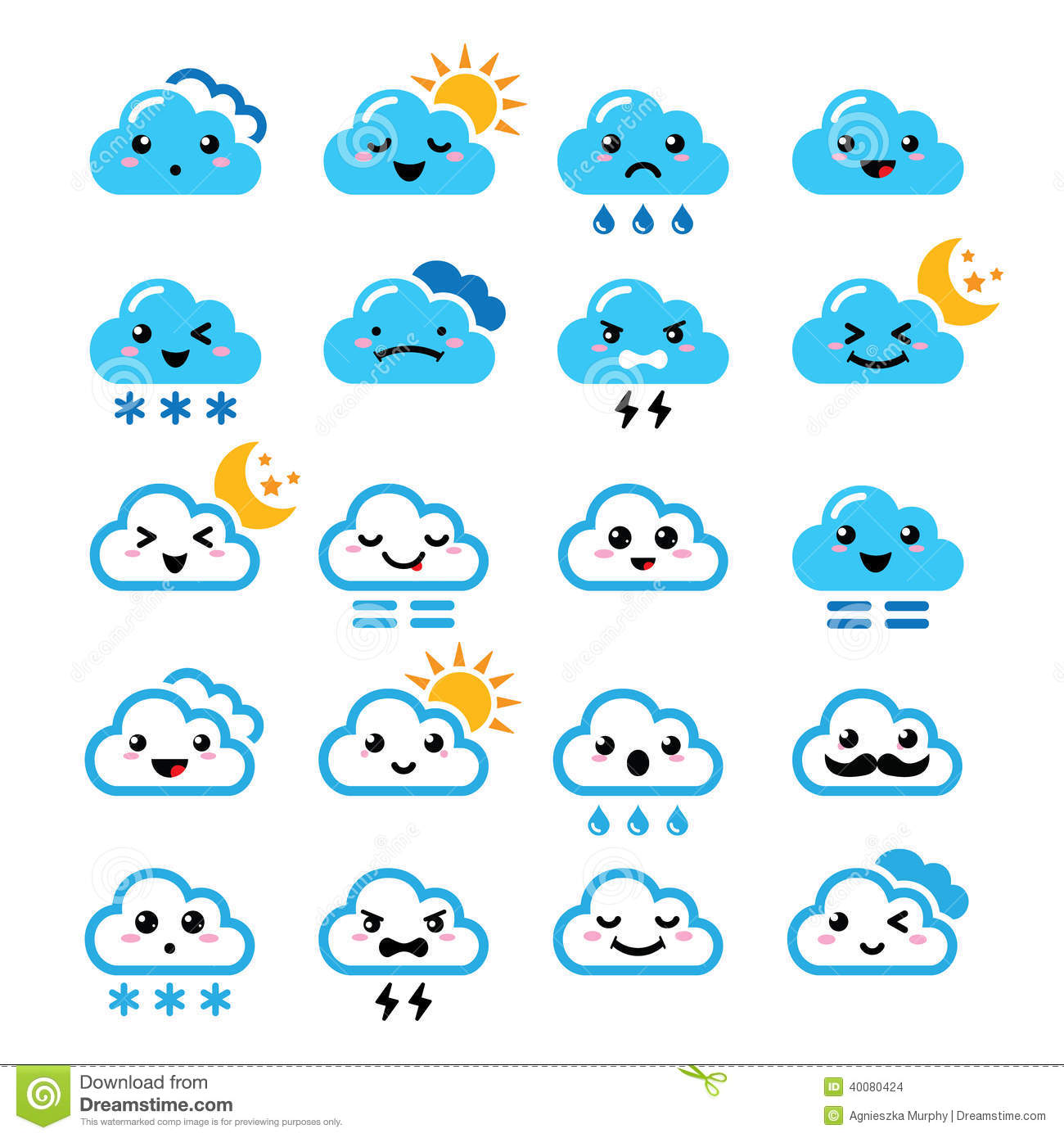 Cute Cartoon Snow Cloud