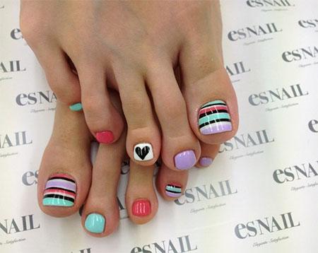 Cute Easy Toe Nail Art Designs