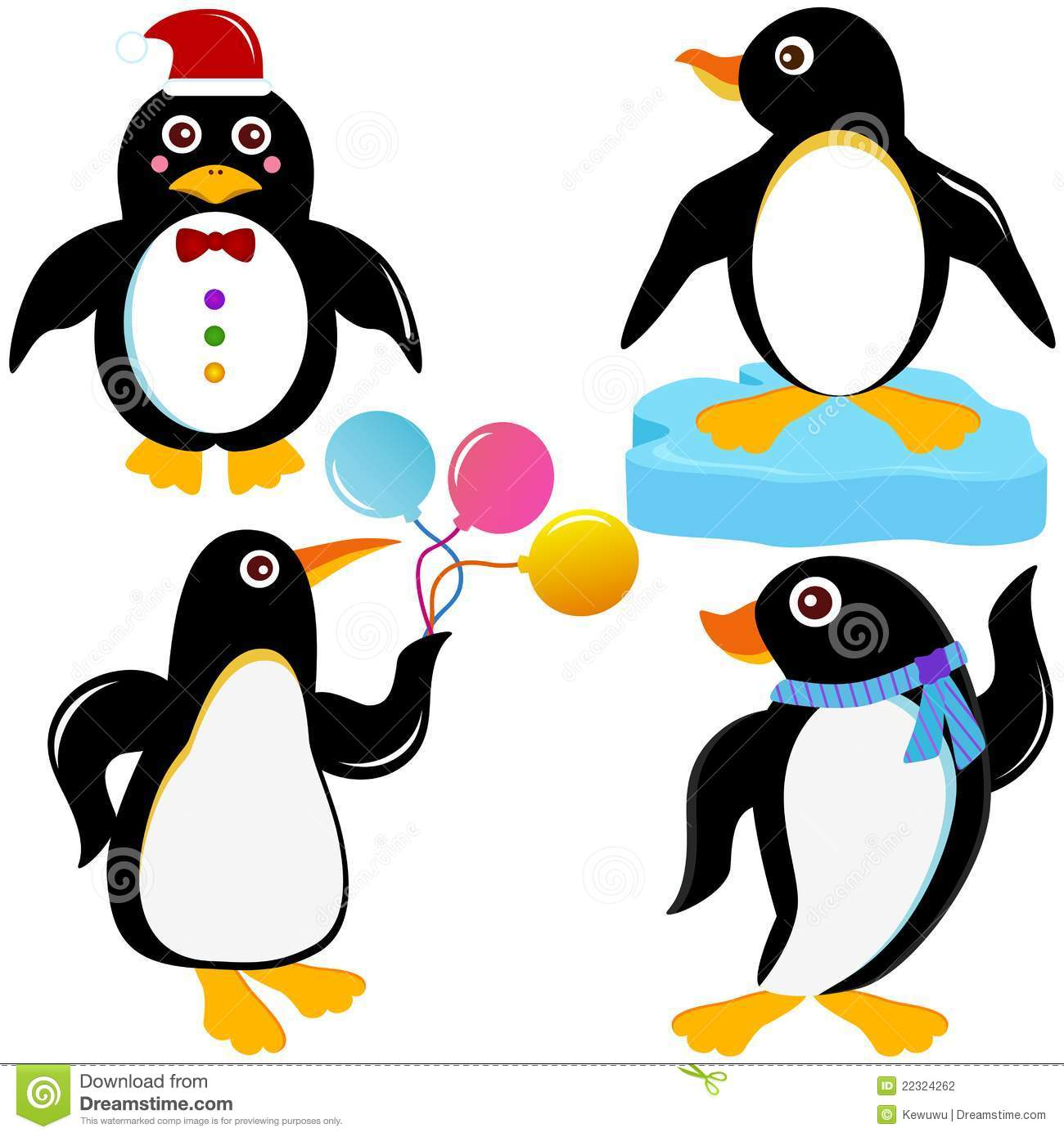 Cute Penguin Vector