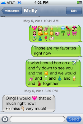 how to add emoji icons to text messages