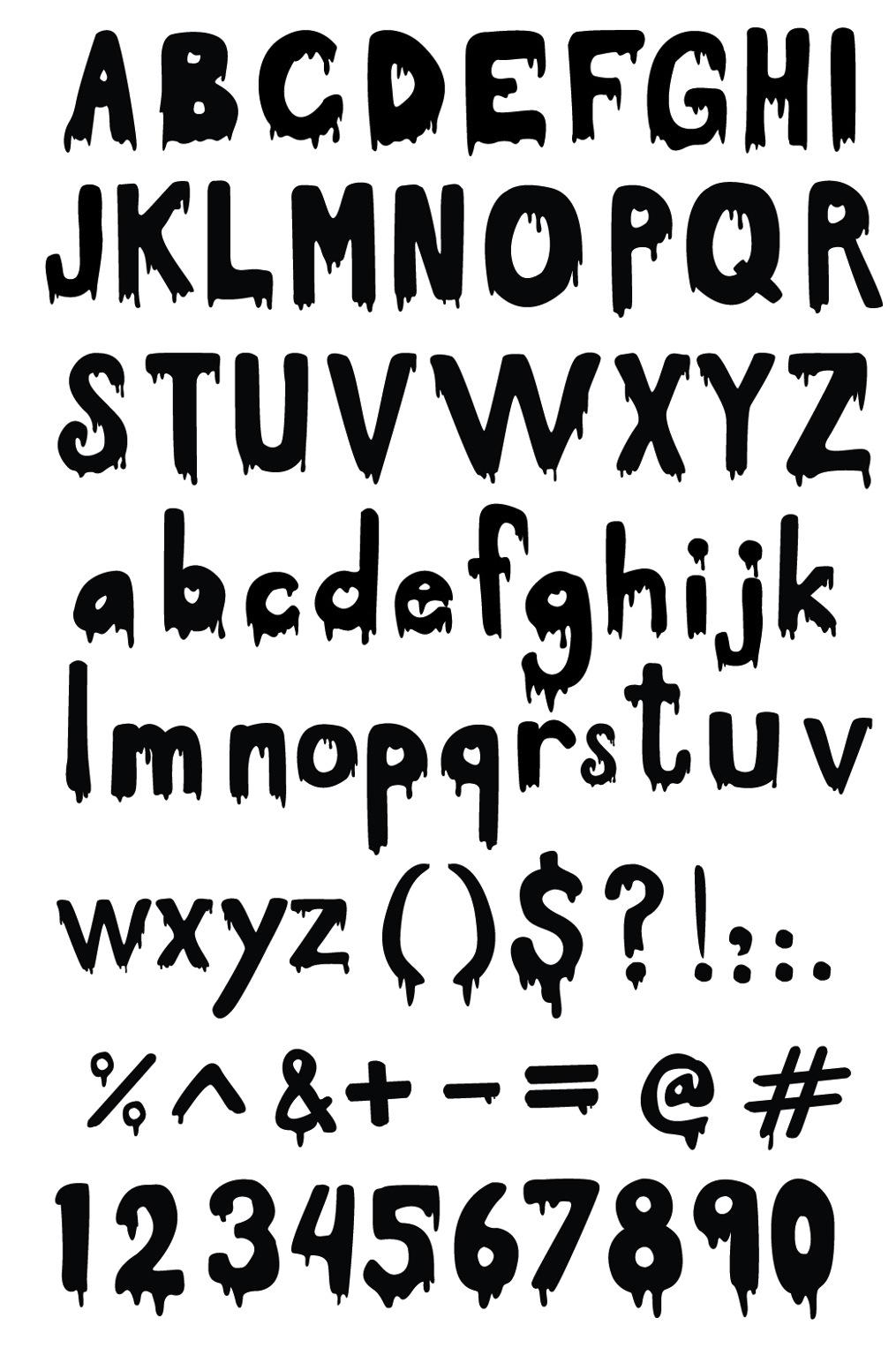 Dripping Letter Alphabet Font