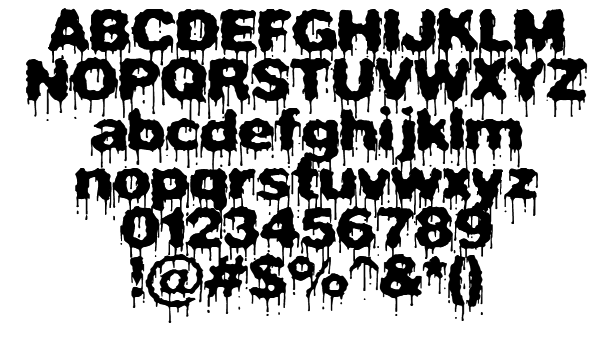 14 Drippy Letter Font Images