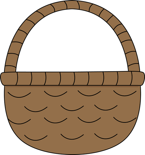 Easter Basket Clip Art Black And White