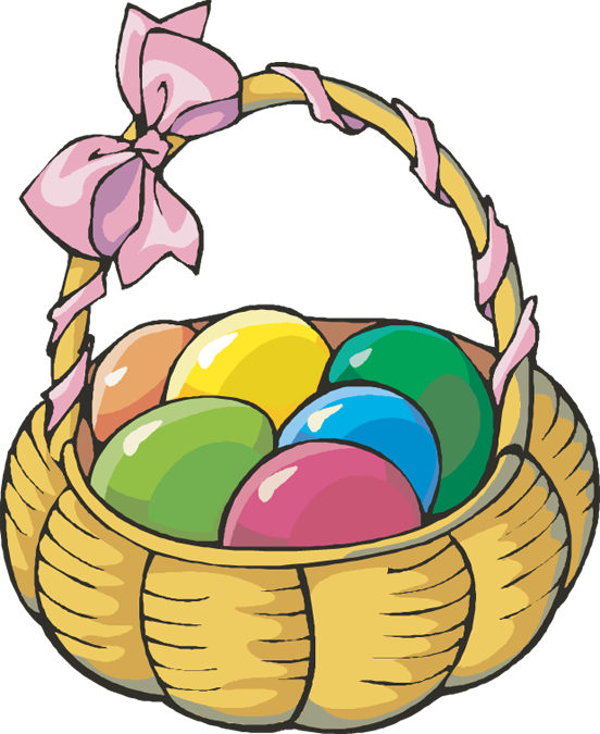 Easter Egg Basket Clip Art Free