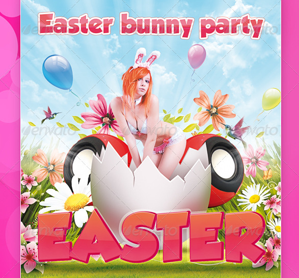 9 Easter Spring PSD Images