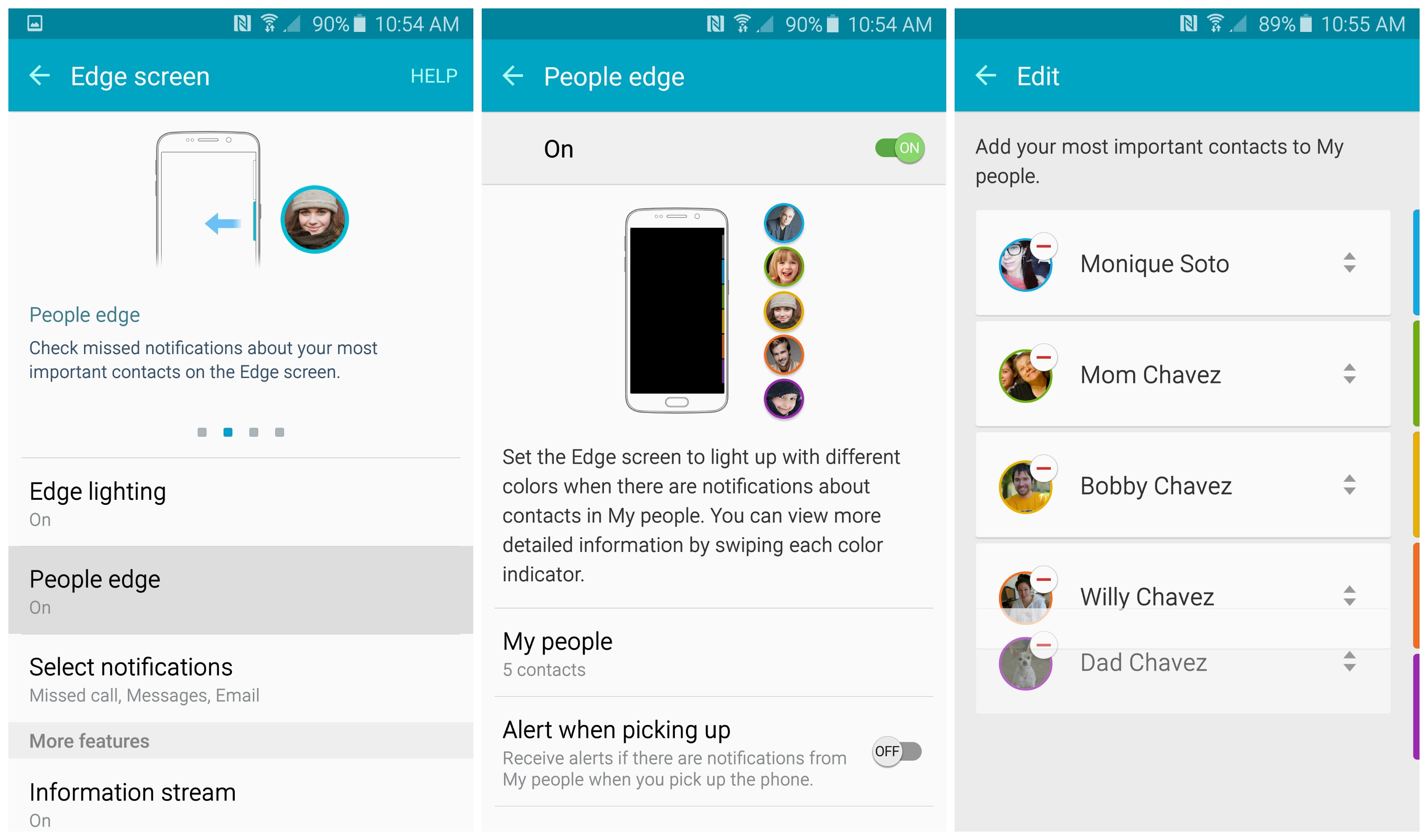 Edge Screen Icons Samsung Galaxy S6