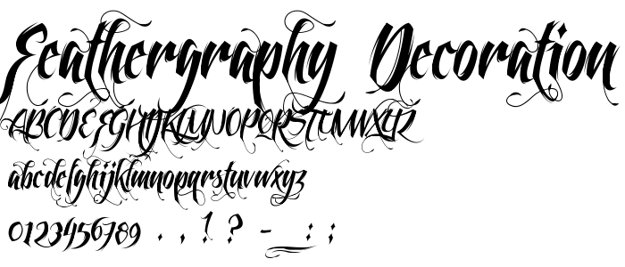 8 Feathergraphy Script Fonts Images - Feathergraphy Font ...