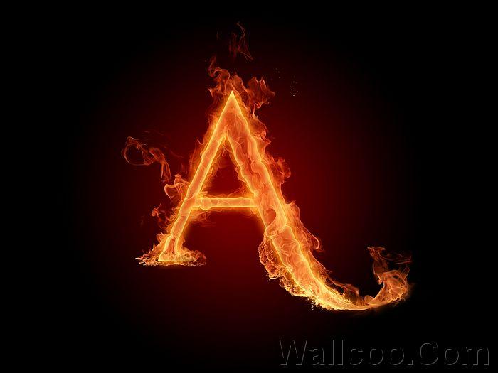 Fire Flames Alphabet Letters
