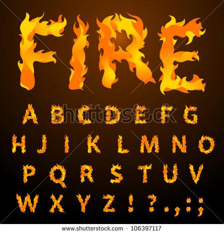 Fire Flames Letters Fonts