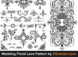 18 Lace Floral Vector Patterns Images