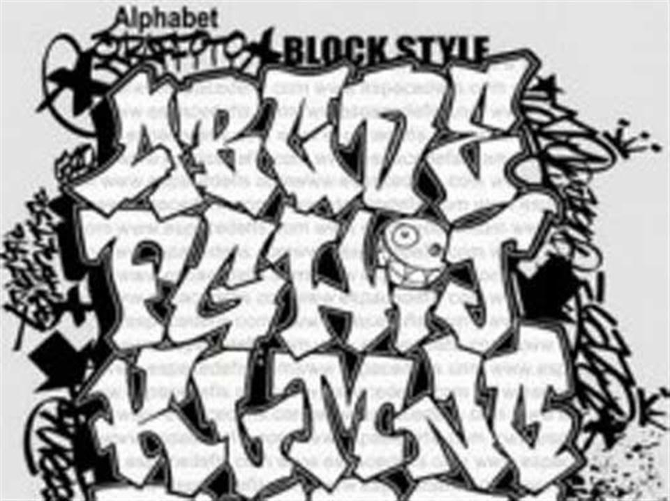 Font Graffiti Alphabet Letters A Z