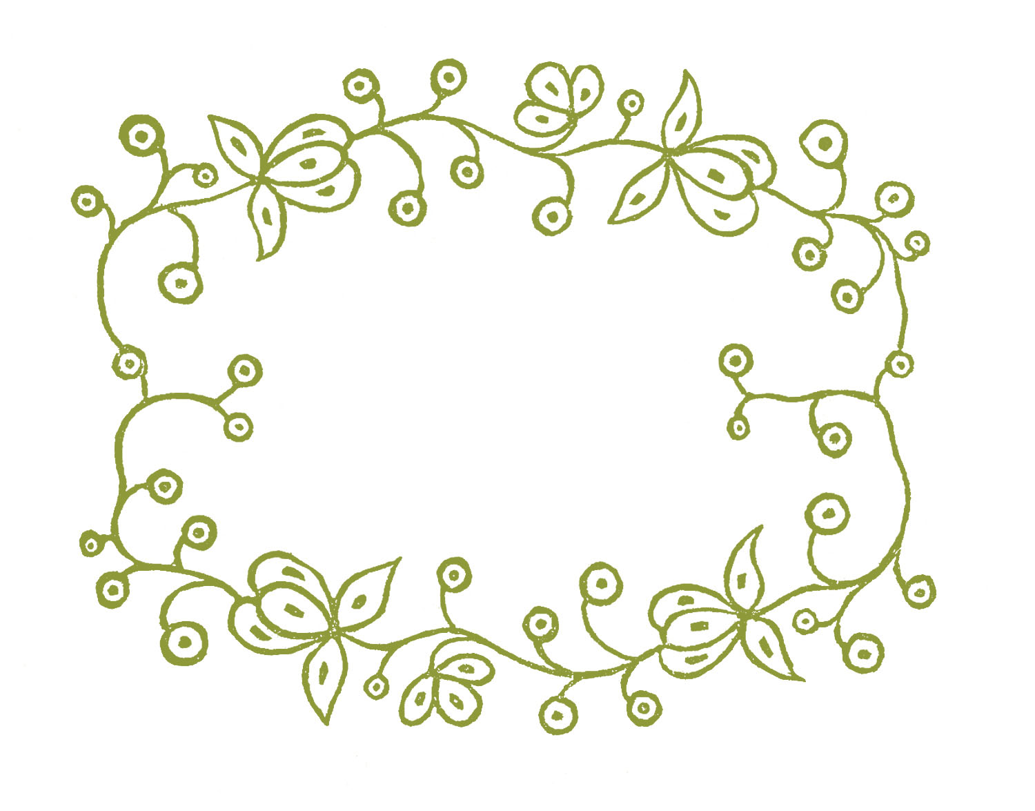 Frames Floral Embroidery Patterns