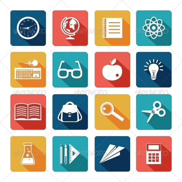 12 Free Education Icons Flat Images