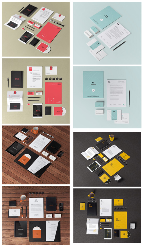 7 Mockup Templates Graphic Design Images