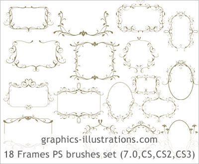 9 Free Photoshop Brushes Frames And Borders Images