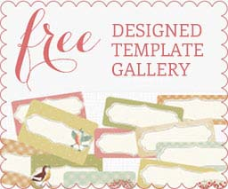 Free Printable Label Design Template