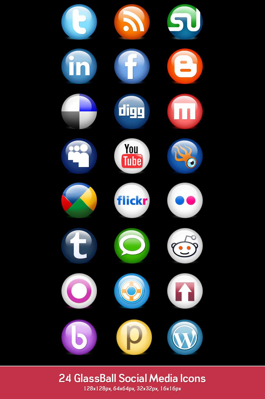 Free Social Media Icons PNG