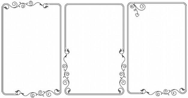 Free Vector Borders Simple