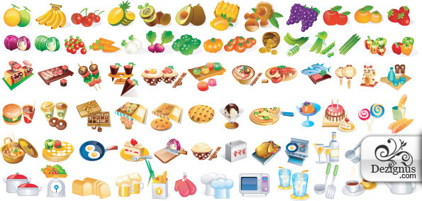 14 Food Icon Vector Free Download Images