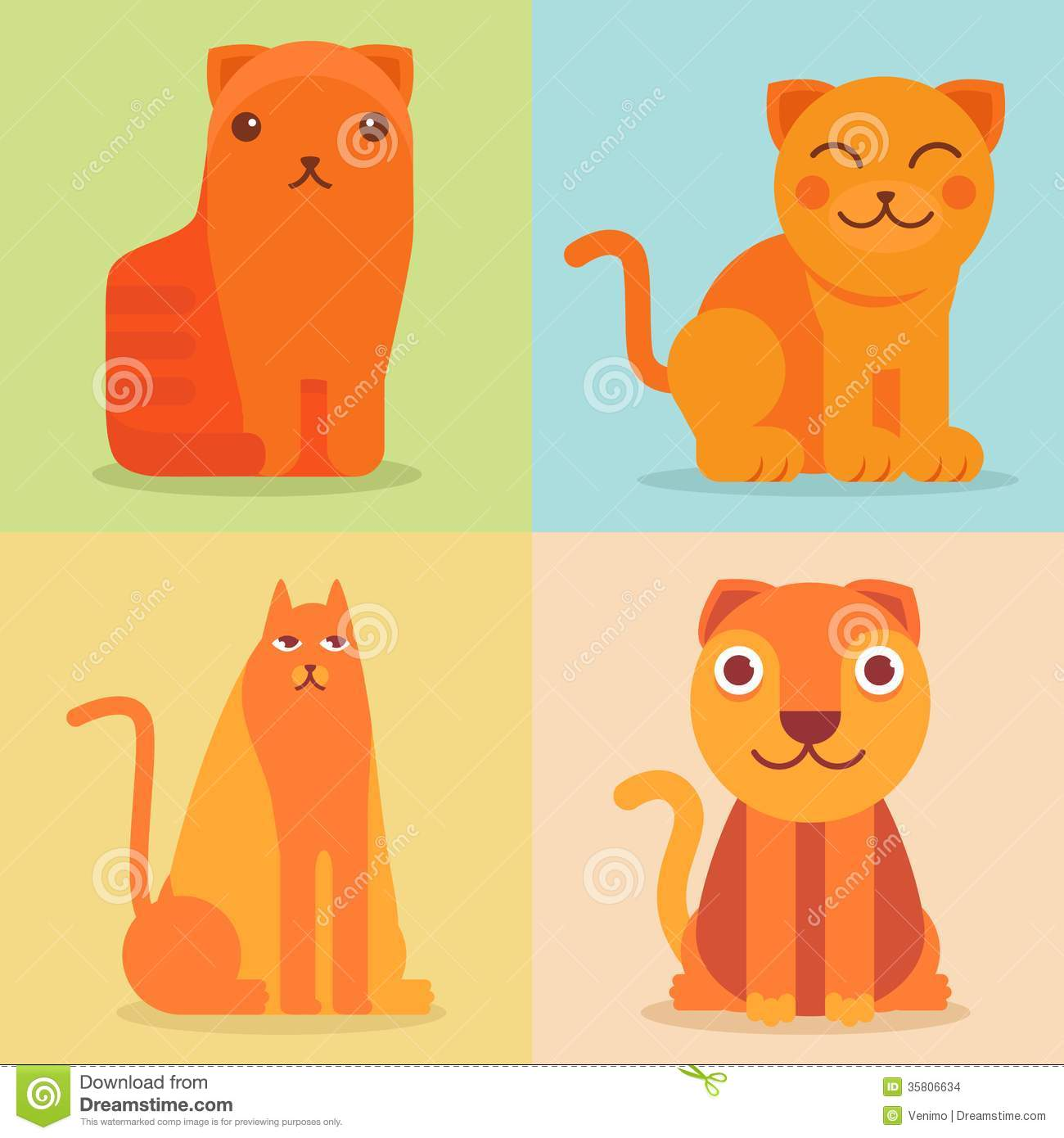 Funny Cartoon Cat Icon