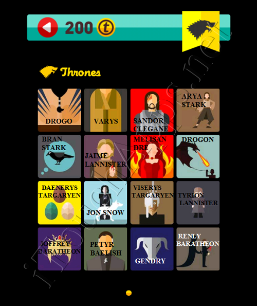 Game of Thrones Pop Icon Quiz Answers