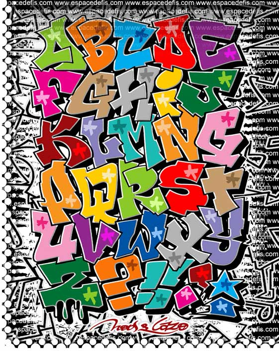 Graffiti Alphabet Letters