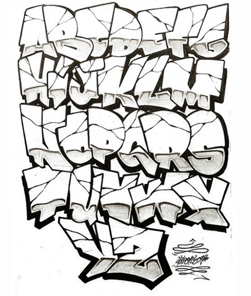 Graffiti Letters Styles Fonts