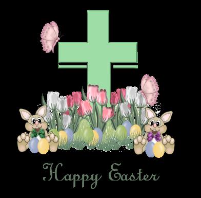 Graphic Religiou Happy Easter