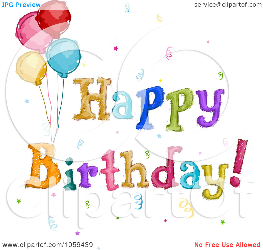 Happy Birthday Balloons Clip Art Free