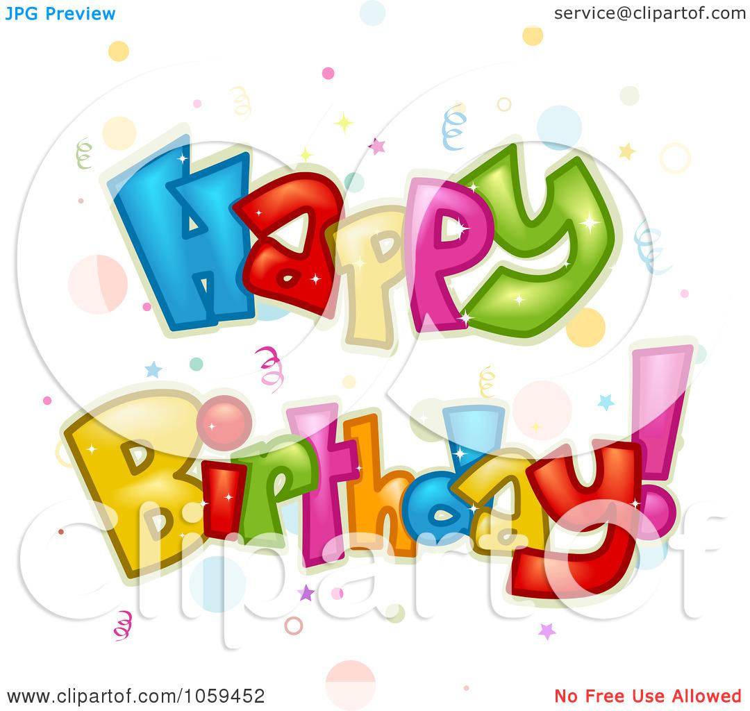 Happy Birthday Confetti Clip Art