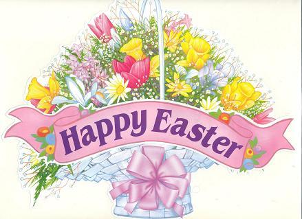 Happy Easter Religious Flower
