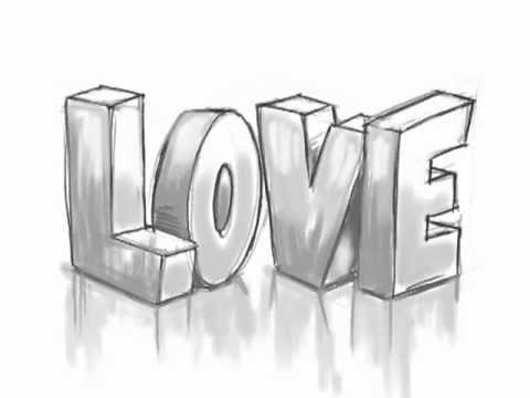 How To Draw 3D Graffiti Letters Love
