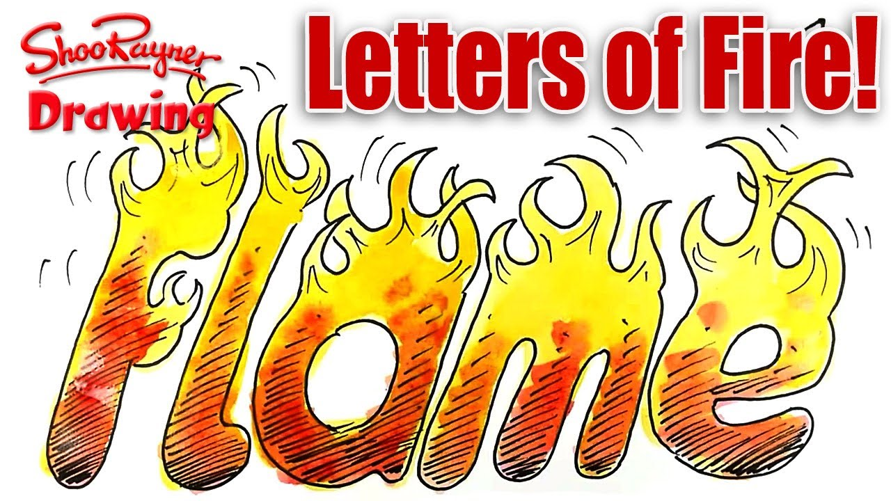 19 To Draw Flame Letters Font Images