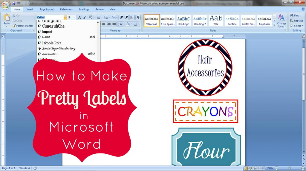How to Make Labels in Microsoft Word